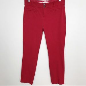 Anthropologie Red The Essential Slim Pants size 8